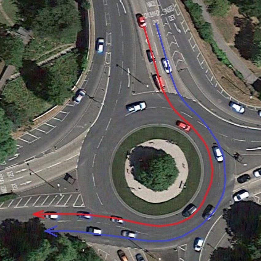 Lane Discipline on Roundabouts