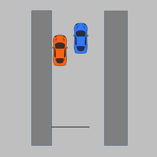 Diagram for starting point of parallel park