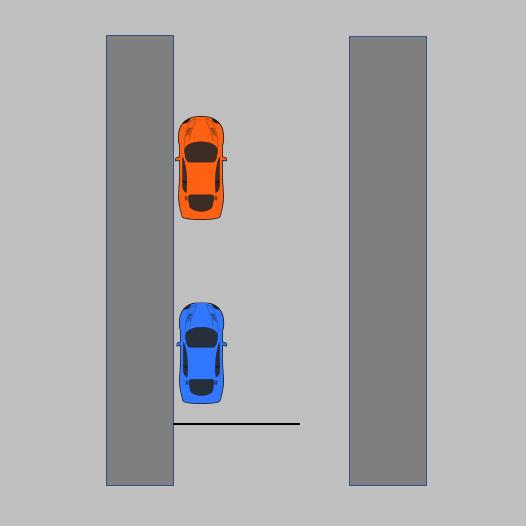 Diagram of parallel park final position